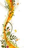Abstracte bloemenachtergrond Stock Foto's