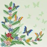 Abstracte bloemenachtergrond. Stock Fotografie