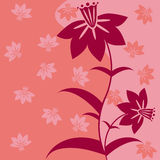 Abstracte bloemenachtergrond Royalty-vrije Stock Afbeelding