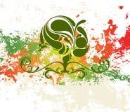 Abstracte bloemenachtergrond grunge royalty-vrije illustratie
