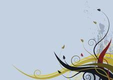 Abstracte bloemenachtergrond - grunge stileer golven Stock Foto's