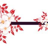 Abstracte bloemenachtergrond met Stock Afbeeldingen