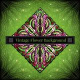 Abstracte bloemenachtergrond met bloem en bes Royalty-vrije Stock Afbeelding