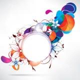 Abstracte bloemenachtergrond met kader voor tekst Stock Afbeelding