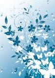 Abstracte bloemenachtergrond met plaats voor uw te Stock Foto's