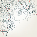 Abstracte bloemenachtergrond met slakken Royalty-vrije Stock Afbeeldingen