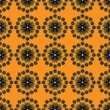 Abstracte bloemenachtergrond met sterren Stock Afbeeldingen
