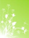 Abstracte bloemenachtergrond met tulpen royalty-vrije illustratie