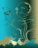 Abstracte bloemenachtergrond met vlinder Stock Afbeelding