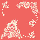Abstracte bloemenachtergrond met vlinders Royalty-vrije Stock Afbeelding