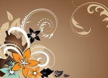 Abstracte bloemenachtergrond met vrije ruimte uw te Stock Foto