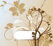 Abstracte bloemenachtergrond met vrije ruimte voor u Stock Fotografie