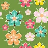 Abstracte bloemenachtergrond. Naadloos patroon. Royalty-vrije Stock Foto