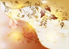 Abstracte bloemenachtergrond in uitstekende stijl Stock Foto