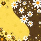 Abstracte bloemenachtergrond (vector) Royalty-vrije Stock Foto's