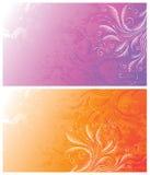 Abstracte bloemenachtergronden Stock Afbeelding