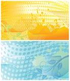 Abstracte bloemenachtergronden  Royalty-vrije Stock Afbeeldingen