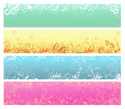 Abstracte bloemenachtergronden Royalty-vrije Stock Foto's