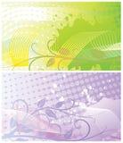 Abstracte bloemenachtergronden twee Royalty-vrije Stock Foto
