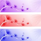 Abstracte bloemenbanners Stock Foto
