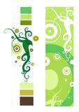 Abstracte bloemendecoratie stock illustratie