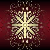 Abstracte bloemendecoratie royalty-vrije illustratie