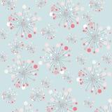 Abstracte bloemendecoratie, naadloos patroon royalty-vrije illustratie