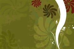 Abstracte bloemengrungeachtergrond vector illustratie
