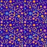 Abstracte bloemenillustratie wallpaper Royalty-vrije Stock Afbeeldingen