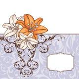 Abstracte bloemenkaart Stock Foto's
