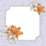 Abstracte bloemenkaart Royalty-vrije Stock Foto's