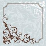 Abstracte bloemenkaart Royalty-vrije Stock Foto