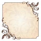 Abstracte bloemenkaart Royalty-vrije Stock Afbeeldingen