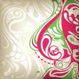 Abstracte BloemenKromme Stock Afbeelding