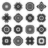 Abstracte BloemenPictogrammen Geplaatste de elementen van het ontwerp Royalty-vrije Stock Fotografie