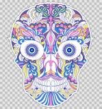 Abstracte bloemenschedel Stock Afbeelding