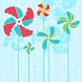 Abstracte bloemenvector Stock Foto