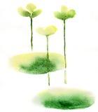 Abstracte bloemenwaterverf Stock Fotografie
