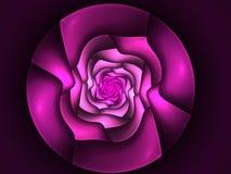 Abstracte bloemfractal vorm Royalty-vrije Stock Afbeeldingen