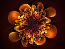 Abstracte bloemfractal vorm Stock Fotografie
