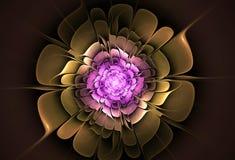 Abstracte bloemfractal vorm stock foto's