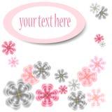 Abstracte bloemkaart met plaats voor u tekst Royalty-vrije Stock Fotografie