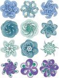 Abstracte bloemtentakels Stock Foto