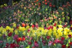 Abstracte bloemtuin, illustratie Royalty-vrije Stock Fotografie