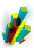 Abstracte blokkenachtergrond Royalty-vrije Stock Fotografie