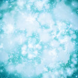 ABSTRACTE BOKEH-ACHTERGROND in blauwe tonen, de Herfst Royalty-vrije Stock Foto's