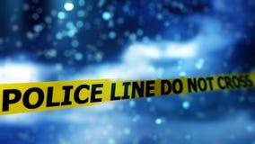 Abstracte Bokeh-Achtergrond met Politieline Do Not Cross Teken vector illustratie