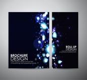 Abstracte Bokeh Brochure bedrijfsontwerpmalplaatje of broodje omhoog Royalty-vrije Stock Foto