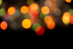 Abstracte bokehachtergrond van Christmaslight-achtergrond Stock Afbeeldingen