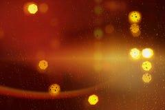 abstracte bokehachtergrond van gouden lichte die uitbarsting van bokehmotie wordt gemaakt royalty-vrije stock afbeeldingen